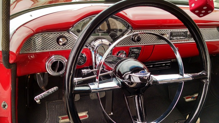 1955 Chevy dash and steering wheel