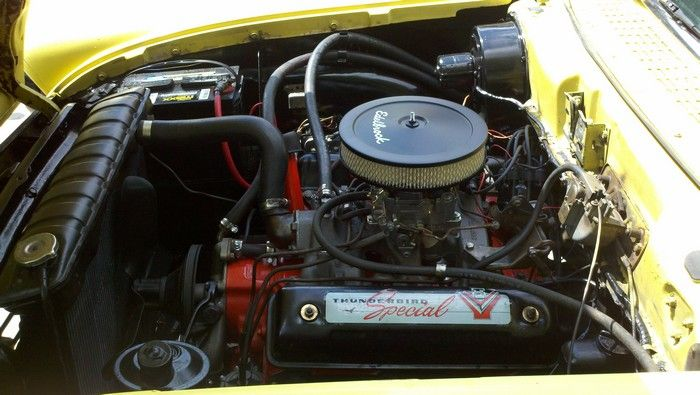 1957 Ford Fairlane engine compartment