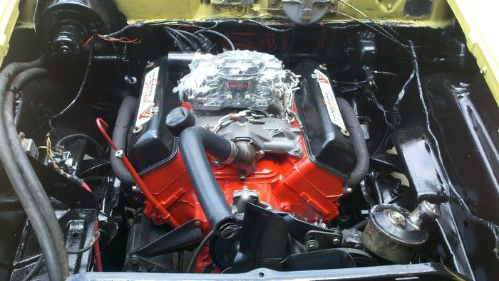 1957 Ford Fairlane engine after cleaning
