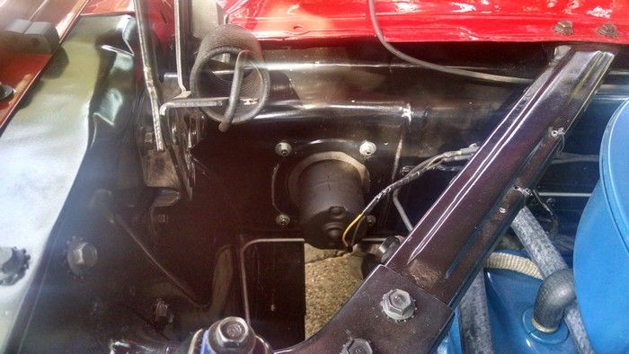 1966 Mustang Convertible engine compartment passenger side