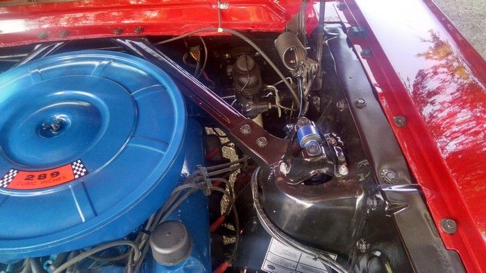 1966 Mustang Convertible under hood driver side view