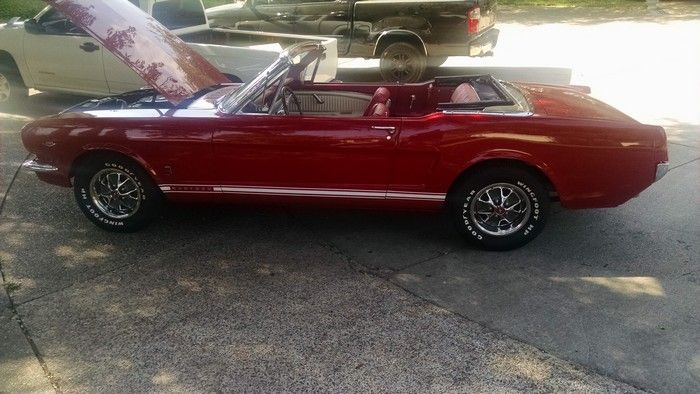 1966 Mustang Convertible driver side view top down