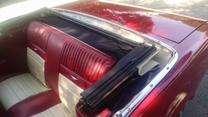 1966 Mustang Convertible back seat with top down