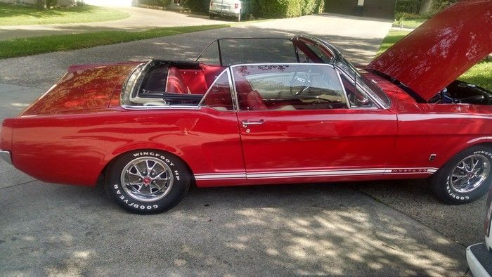 1966 Mustang Convertible passenger side view with windows up