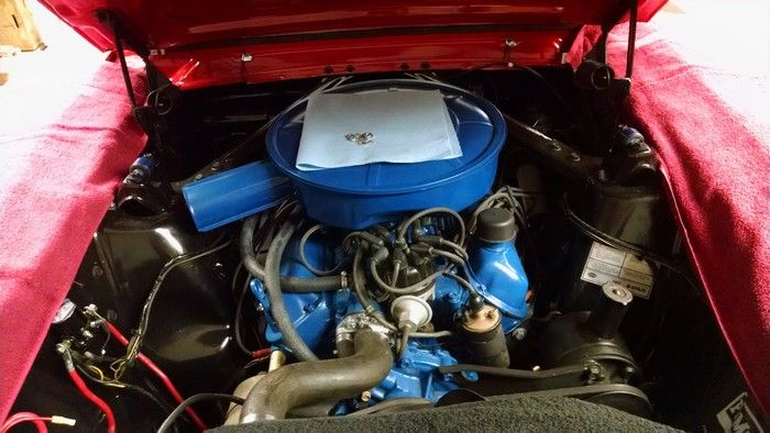 1966 Mustang Convertible engine view
