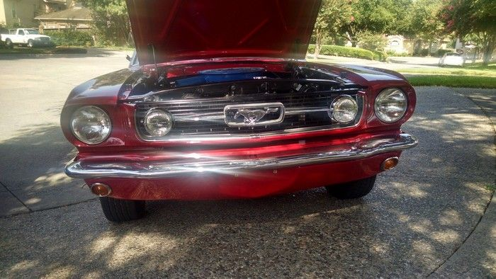 1966 Mustang Convertible front view