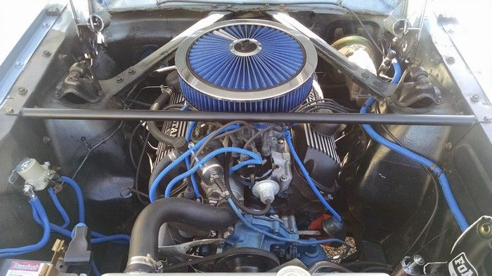 1966 Mustang Fastback engine compartment