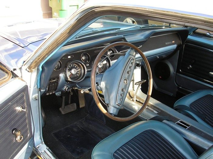 1968 Mustang GT/CS front seat and dash from outside