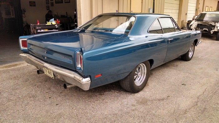 1969 Plymouth Road Runner passenger side rear view
