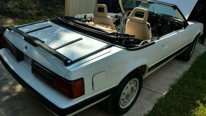1986 Mustang GT Convertible after seats replaced