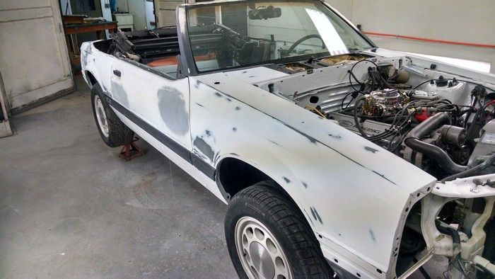 1986 Mustang GT Convertible passenger side before painting