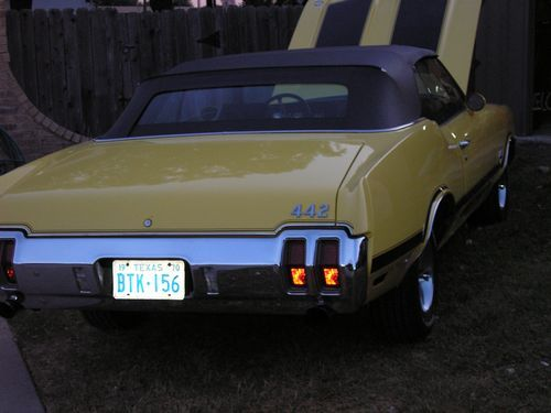 1970 oldsmobile 442 convertible, rear view