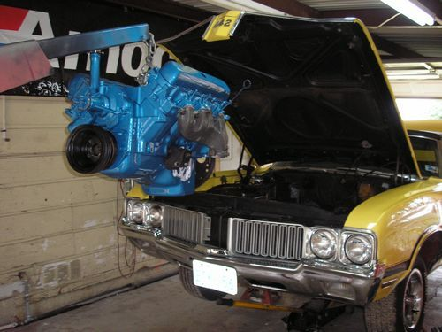 engine ready to install, 1970 oldsmobile 442 convertible, after restoration