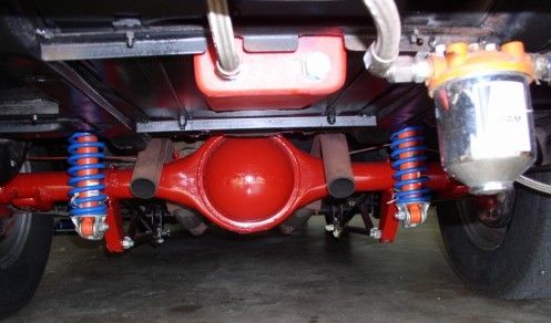 1966 Chevelle view of rear axle from under the car