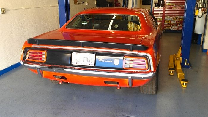 1970 Barracuda rear view