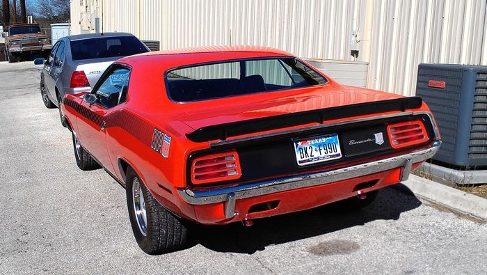 1970 Barracuda driver side rear view