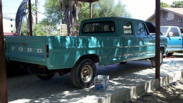 1967 Ford F350 original condition passenger view rear