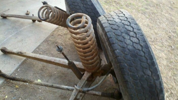 1967 Ford F350 old wheel, spring, steering rods
