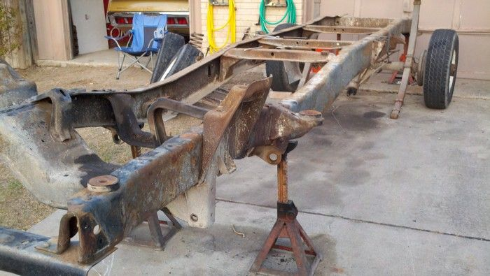 1967 Ford F350 complete frame to show condition