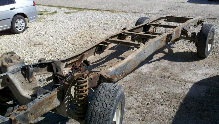 1967 Ford F350 complete frame with wheels still on