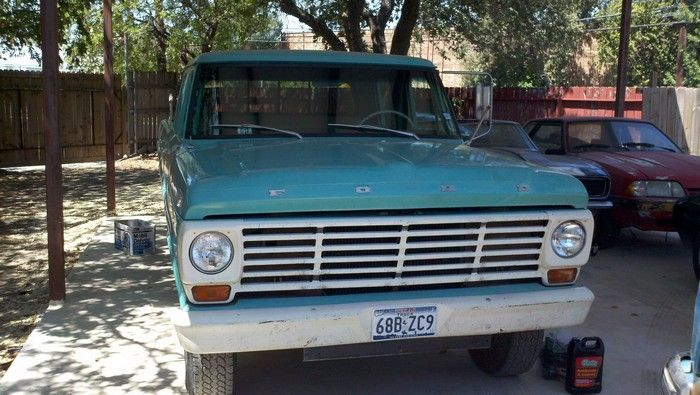 1967 Ford F350 original condition front view