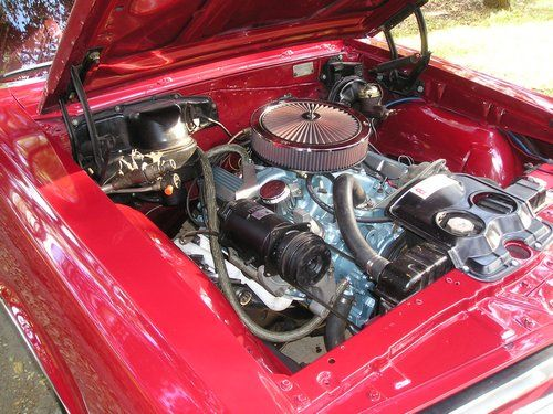 1965 pontiac gto, engine in car second view