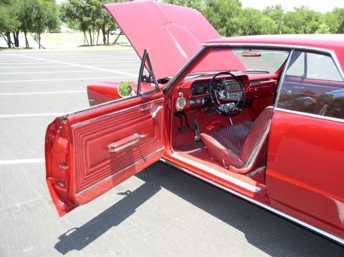 1965 pontiac gto, driver side view, door open hood open