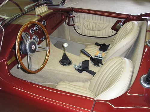 front seats and steering wheel, 1966 shelby cobra