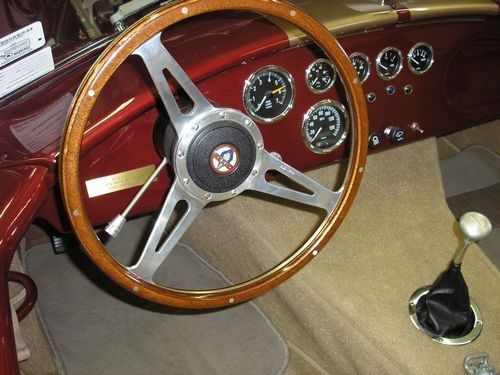 steering wheel close up, 1966 shelby cobra