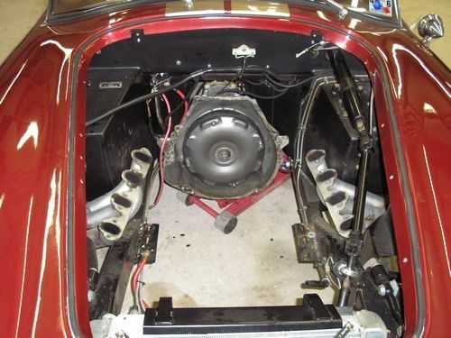 engine bay, engine removed, 1966 shelby cobra