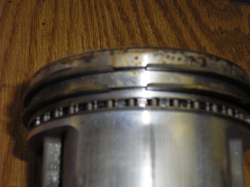 piston and rings removed from block, 1966 shelby cobra