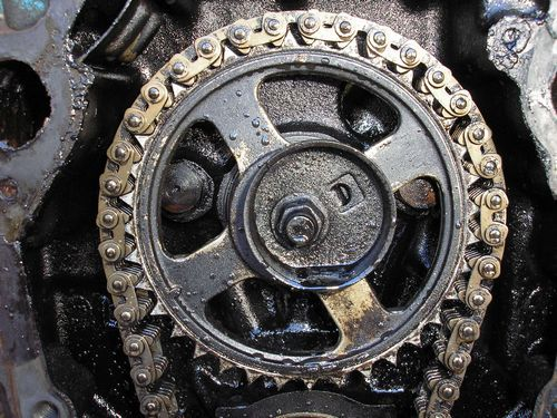 timing gear, cam shaft, 1970 oldsmobile vistacruiser, before restoration